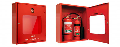 Double Fire Extinguisher Cabinet - Heavy Duty Metal