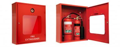 Double Fire Extinguisher Cabinet - Heavy Duty Metal