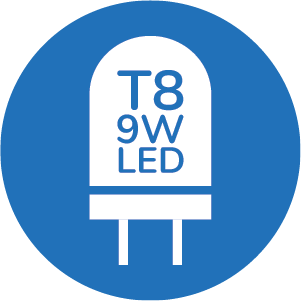 T8 9W LED LIGHT SOURCE