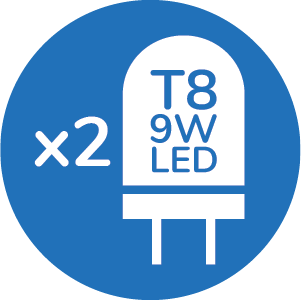 T8 2X 9W LED LIGHT SOURCE