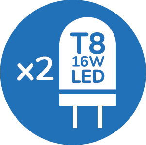 T8 2X 16W LED LIGHT SOURCE
